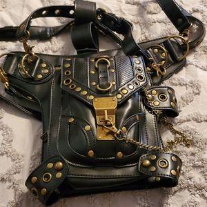 Steampunk backpack purse